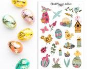 Scandinavian Easter 2018 Planner Stickers | Easter Stickers | Bunnies Stickers | Easter Eggs | Scandinavian Stickers (S-308)