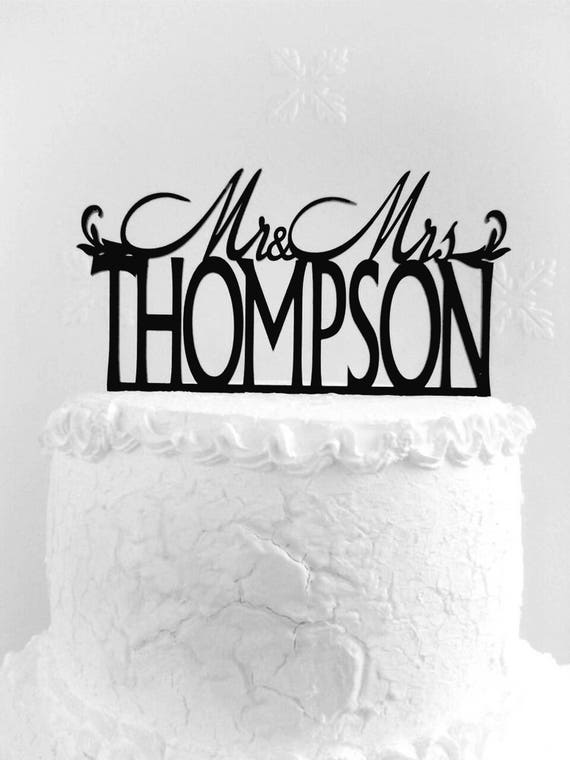 Mr And Mrs Thompson Cake Topper