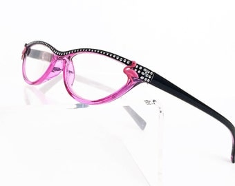 Reader Glasses with Pink Flamingos, Women's reading glasses +3.50