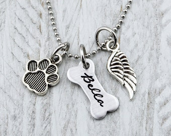 Personalized Dog Memorial Necklace - Pet Loss Gifts - Pet Memorial Jewelry - Pet Memorial Gift - Dog Memorial Jewelry - Dog Lover Gift