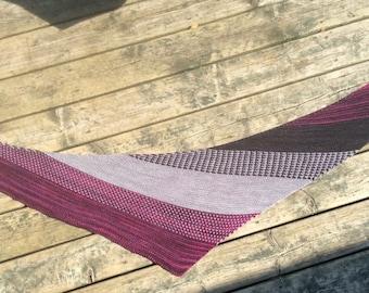PDF Knitting pattern PIMOUSSE shawl garter stitch scarf