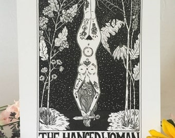 """Tarot Card Print • """"The Hanged Woman"""" • by Madison Ross"""