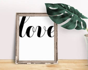 Love Quotes | All You Need is Love, Love Calligraphy Art, Love Saying Art, Love Typography Wall, Love Typography Script, Heart Saying, Love