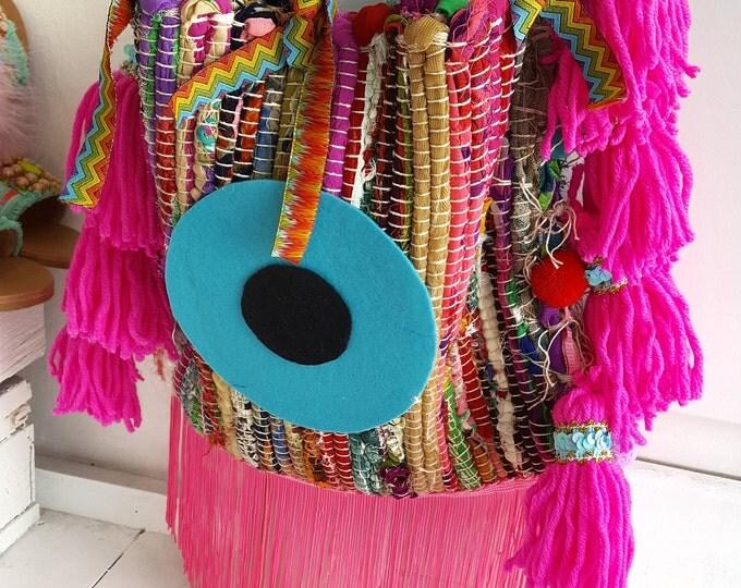 Rag rug bag,Woven bag,bohemian bag,cotton shoulder bag,colorful bag,Handmade,Ethnic bag