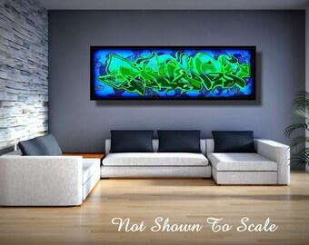 Graffiti Art Canvas, Large Canvas Art, Large Wall Art Canvas, Graffiti Art, Graffiti Canvas, Graffiti On Canvas, Graffiti Art For Sale