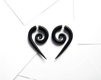 Spiral fake gauge earrings fake plugs fake gauges