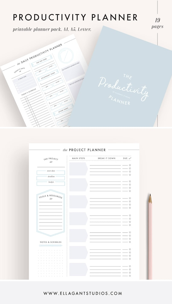 Productivity Planner Project Planner Printable Planner - Productivity planner review
