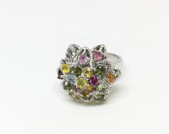 Sterling Silver Natural Tourmaline (1.12 ct) Ring, Appraised 615 CAD