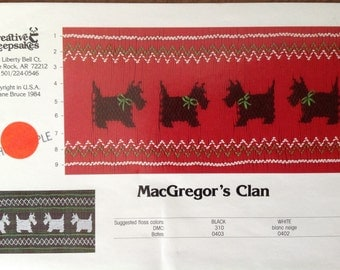 MacGregor's Clan Smocking Plate, vintage smocking plate, heirloom sewing, Creative Keepsakes design,