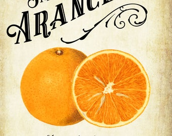 Customized Label - Arancello, Orange Liqueur - Label for Your Homemade Liqueurs - Vintage Style