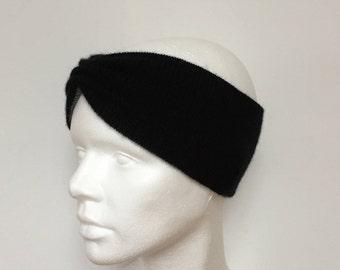 Cashmere headband Two-coloured ear warmer/Cashmere headband 2-tone/earmuffs