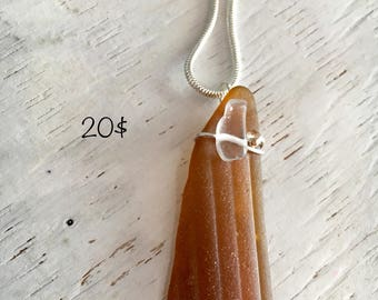 Textured seaglass necklace