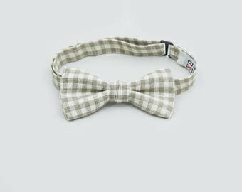Toddler Bow Tie Checkered Bow Tie Adult Bow Tie Linen Bow Tie And Pocket Square