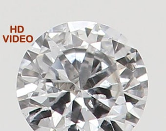 2.20 MM 0.037 Ct Natural Loose Diamond Cut Round Shape F Color SI1 Clarity N5882