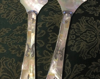 Beautiful Mother Of Pearl Serving Set