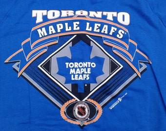 Vintage DEADSTOCK 1993 Toronto Maple Leafs Vintage 90's Crewneck Sweatshirt Made in Canada large
