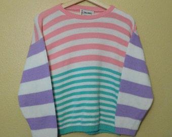 80s Pastel Babydoll Sweater