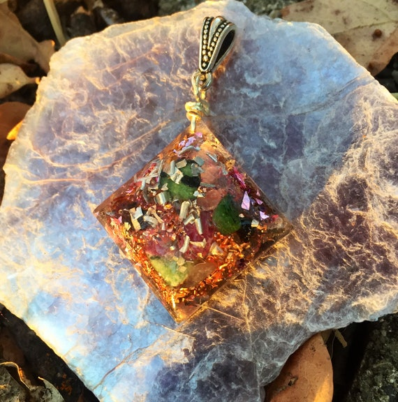 Fairy Magic Orgone Energy Charm Necklace- Release Negative Energies & Past Fears Orgonite® Pendant- Healing Empath Protection Orgone Charm