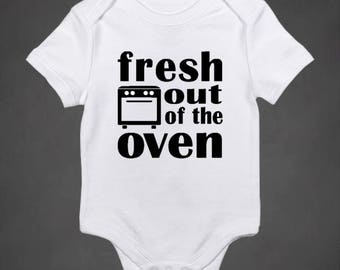 Fresh Out of the Oven Onesie, coming home outfit, newborn bodysuit