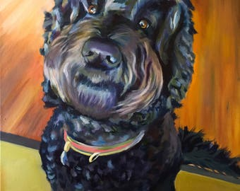 Custom acrylic pet painting, perfect as a gift or home decor