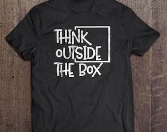 Think outside the box t-shirt, Inspirational