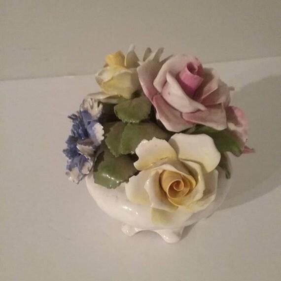 Radnor Staffordshire Bone China Flower Bouquet, Bone China Flower Bouquet, Vintage Radnor English Bone China Bouquet, Xmas Vintage Gift
