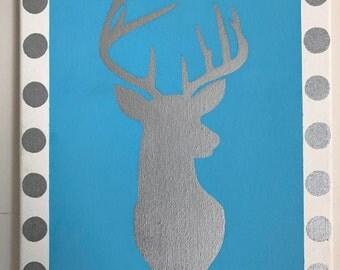 Hand-Painted Deer Canvas
