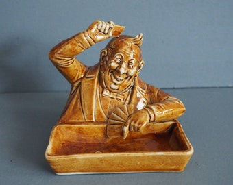 Very Rare Schafer and Vater Novelty Poker Player Ashtray
