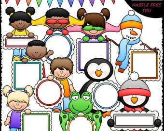 Message Board Mix Clip Art and B&W Set