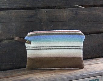 Pendleton Wool Zipper Pouch | Waxed Canvas | Pendleton Bag | Waxed Canvas Pouch | Pendleton Clutch | Waxed Canvas Clutch