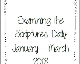 Examining the Scriptures Daily Personal Study Booklet - Family Worship JW Jehovah's Witnesses Homeschool