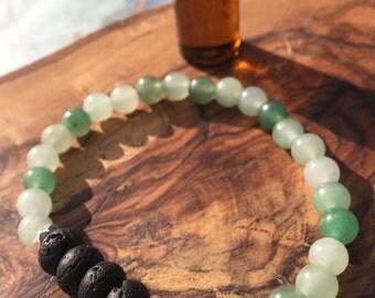 JADE essential oil bracelet: luck, harmony of the mind, love, stability, generosity, abundance