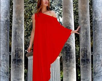 Maxi Dress, Kaftan Dress, Plus Size Dress, Summer Dress, Maternity Dress, Casual dress, Red Kaftan, Asymmetric Dress, Loose Dress, Markiiza