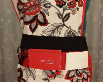 Gardening apron - canvas full apron - artist apron/smock - hostess apron - vintage style - super pockets