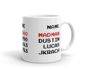 Sale! Stranger Things Mug - Mad Max - High Score - Season 2 - Max - Eleven - Upside Down - Mike - Dustin - Lucas - Friends Don't Lie