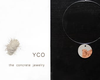 Concrete necklace gioielli collana  concreto necklace for women minimal necklace gold necklace Concrete Jewelry industrial jewelry for me