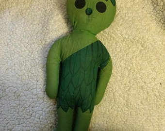 Vintage 1970s Green Giant Sprout Cloth Doll Advertising Product