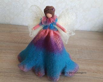 Wool Fairy, Wool doll, Needle felted Fairy, Needle Felted Doll, Waldorf inspired, Wool angel, Spring fairy, Christmas angel, Filz