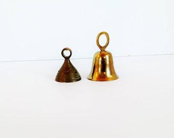Miniature Brass Bells - Set of 2