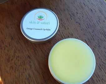 Organic Lip Balm - Orange Creamsicle Flavour // All Natural // Coconut Oil // Beeswax //