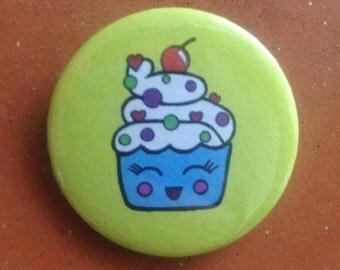 "Button Badge 1.25"" Original Design Pin 'Cuppy'"