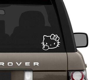 Hello kitty inspired middle finger decal