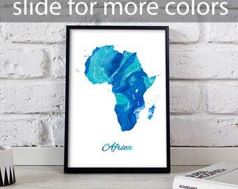 Africa poster Africa art Africa Map poster Africa print wall art Africa wall decor Gift poster