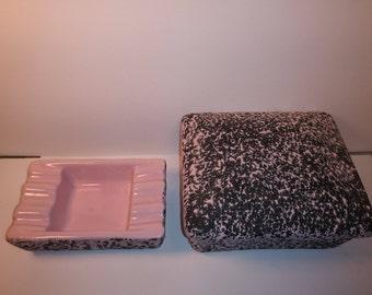 Shawnee USA Ashtray And Cigarette Box