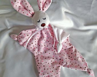 Bunny Lovey Security Blanket