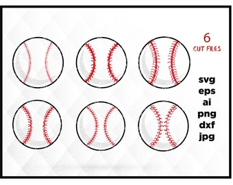 Baseball SVG Files for Cricut Cutting Sports Balls Designs - SVG Files for Silhouette - Instant Download, Svg for Cricut & Silhuette