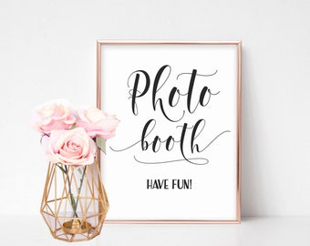Photobooth Wedding Sign, Wedding Signage, Wedding Reception Signs, Wedding Photo Booth Sign, Wedding Day Sign, Photobooth Sign Printable
