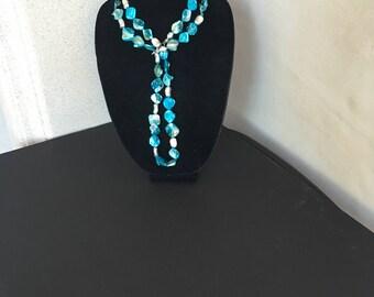 Blue Shell  Necklace by Dobka