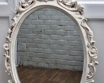 Large hand painted French style mirror