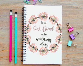 wedding notebooks etsy